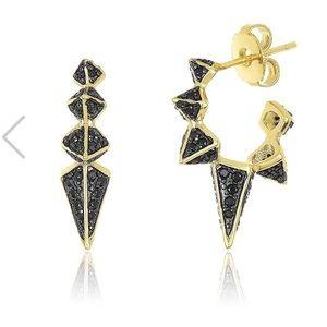 Melinda Maria Gabriella Spike hoop earrings